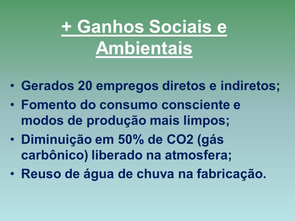 + Ganhos Sociais e Ambientais