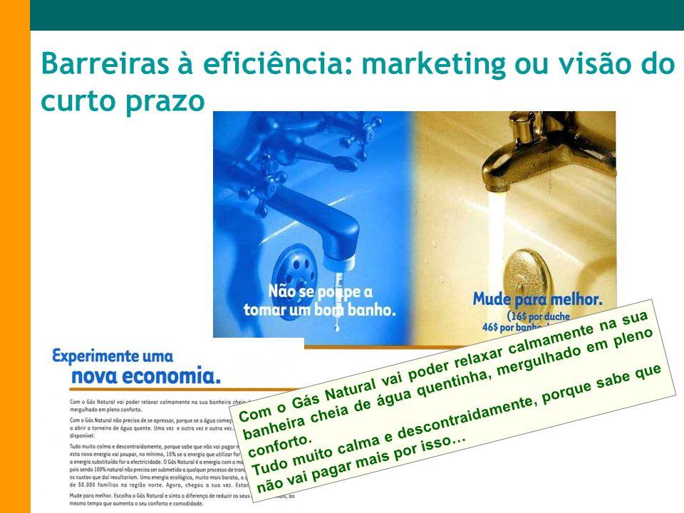 Barreiras à eficiência: marketing ou visão do curto prazo
