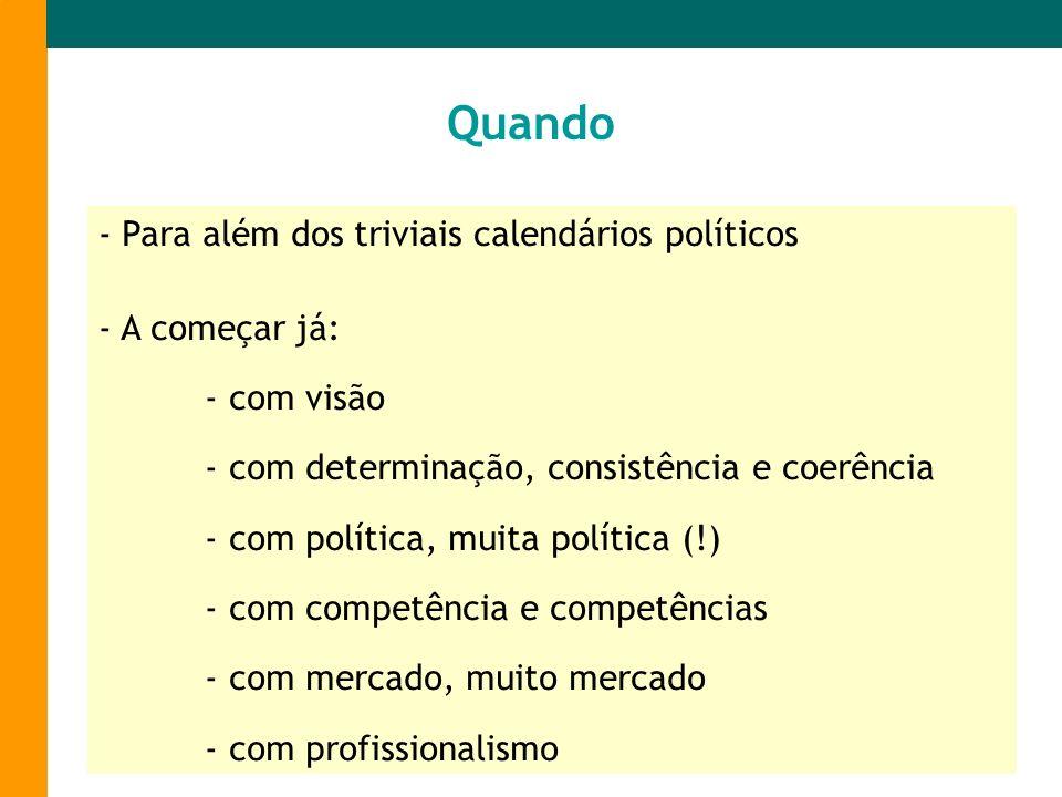 Quando - Para além dos triviais calendários políticos A começar já: