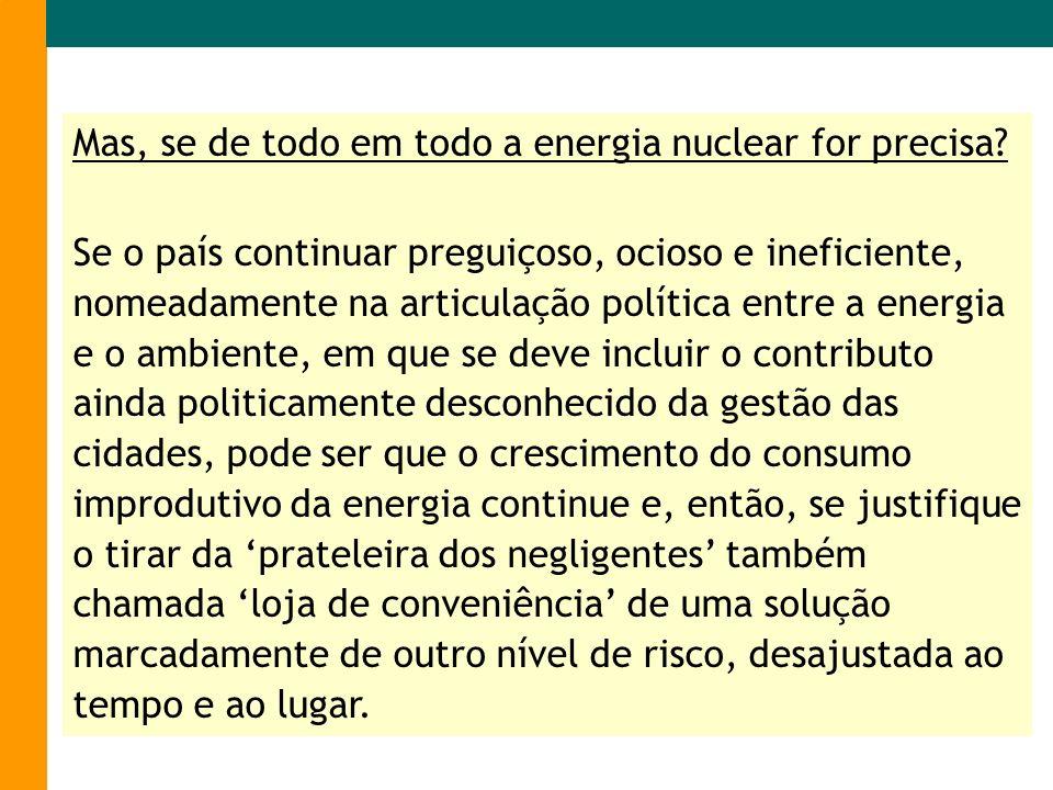 Mas, se de todo em todo a energia nuclear for precisa