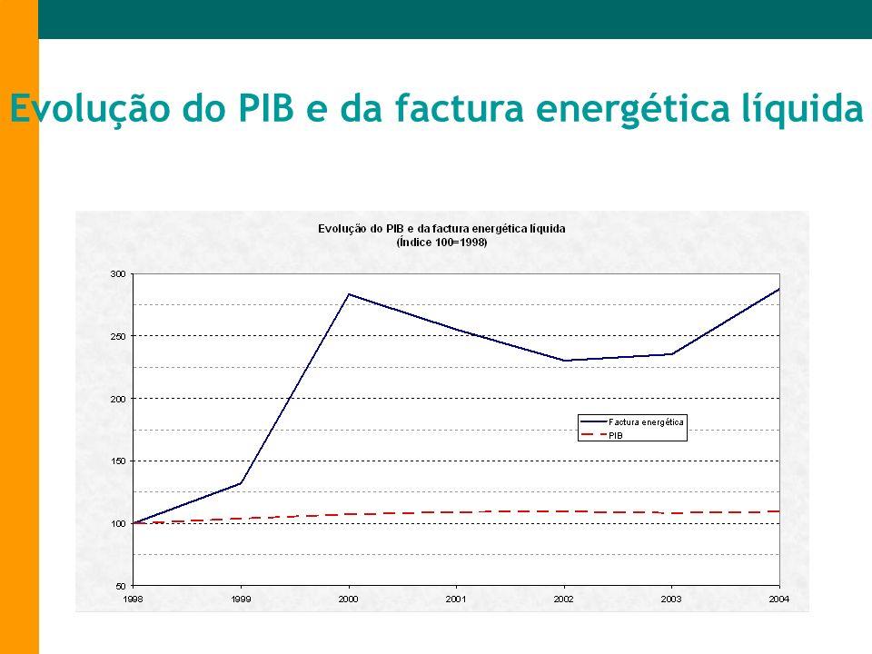 Evolução do PIB e da factura energética líquida