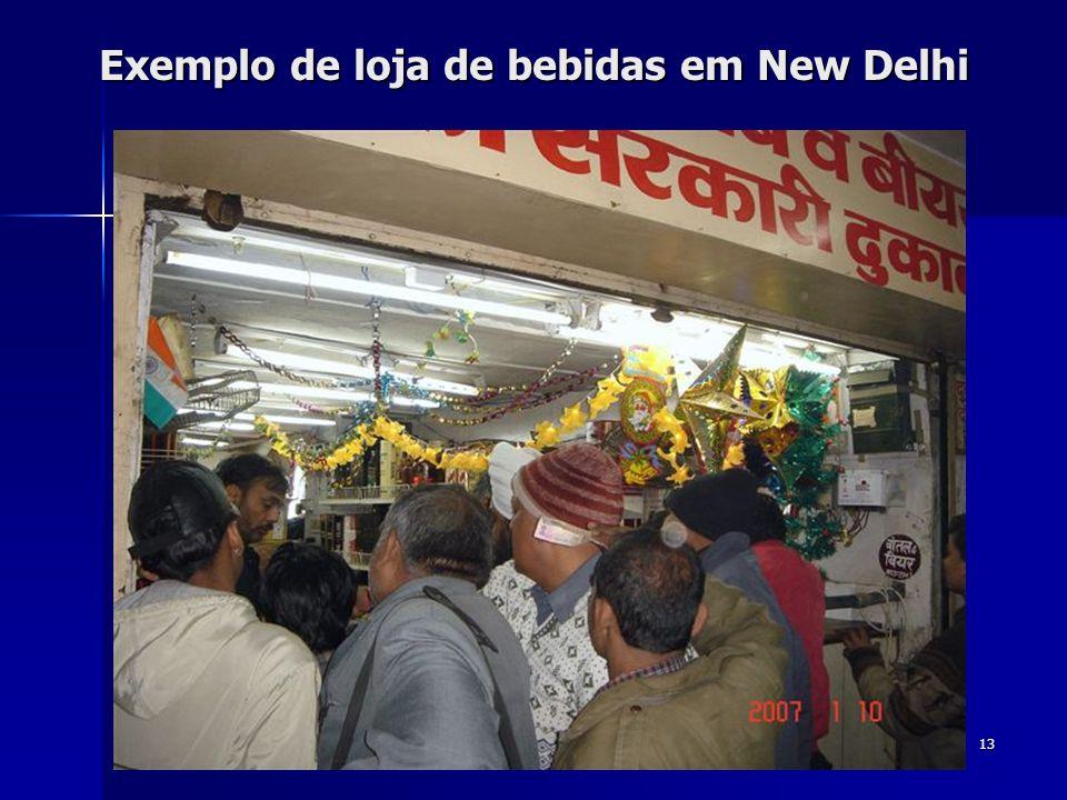 Exemplo de loja de bebidas em New Delhi