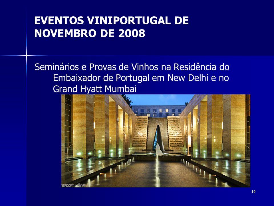 EVENTOS VINIPORTUGAL DE NOVEMBRO DE 2008
