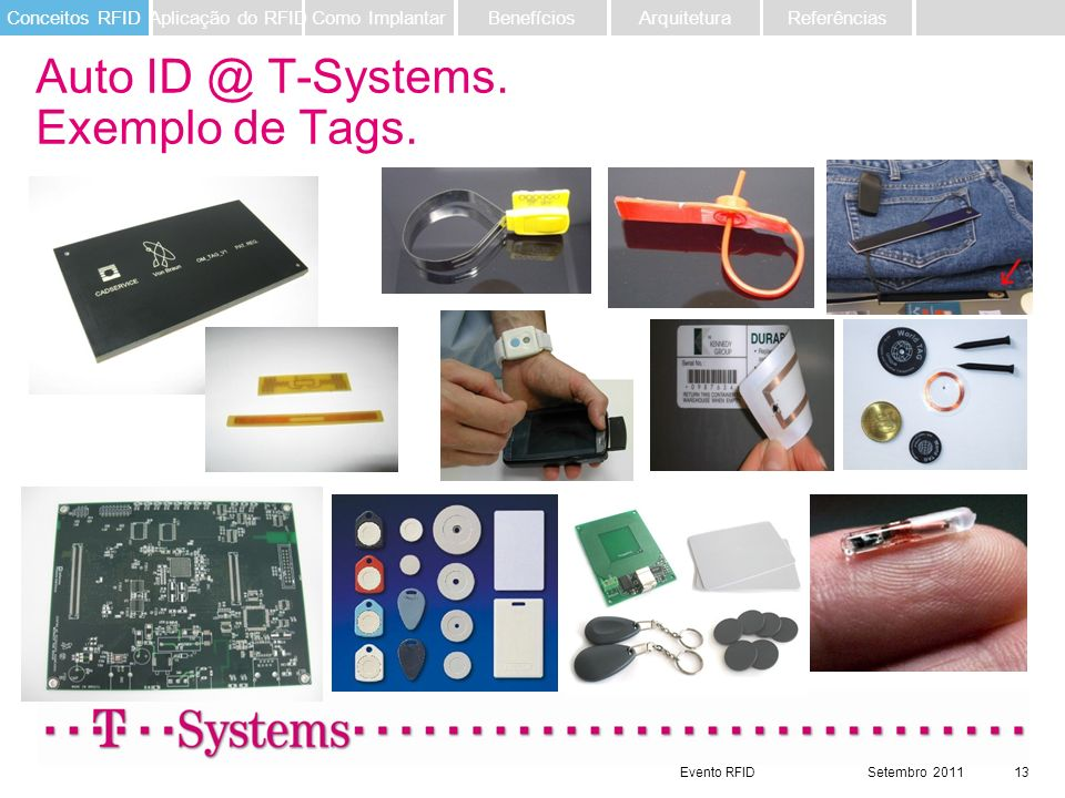 Auto ID @ T-Systems. Exemplo de Tags.