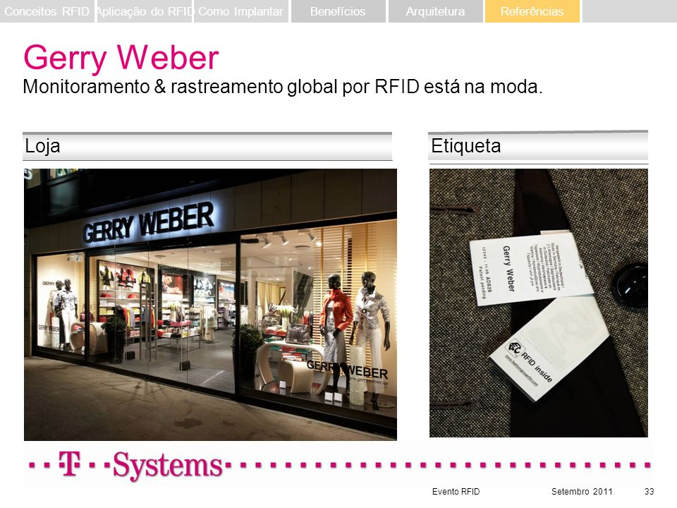 Gerry Weber Monitoramento & rastreamento global por RFID está na moda.