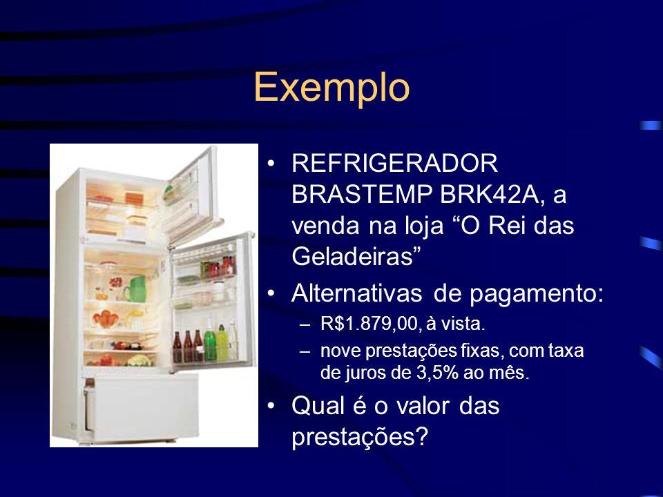 Exemplo REFRIGERADOR BRASTEMP BRK42A, a venda na loja O Rei das Geladeiras Alternativas de pagamento: