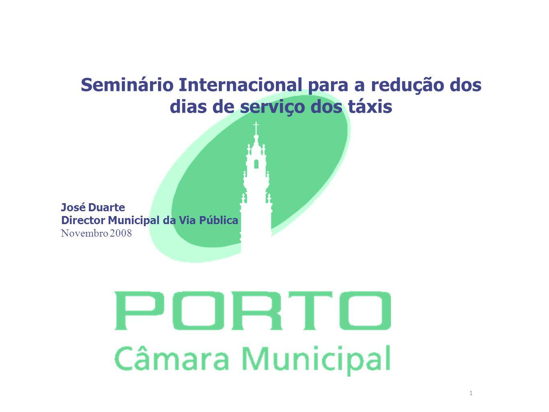 Seminário Internacional para a redução dos dias de serviço dos táxis