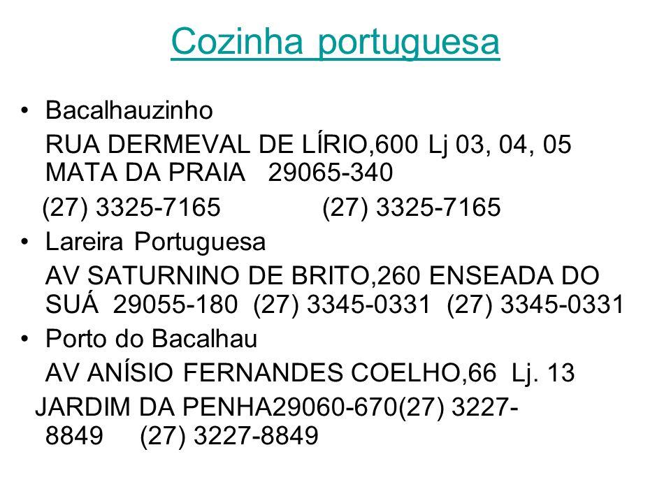 Cozinha portuguesa Bacalhauzinho