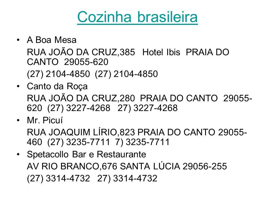 Cozinha brasileira A Boa Mesa