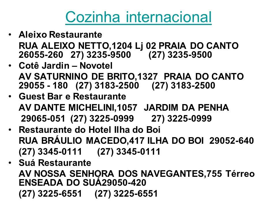 Cozinha internacional