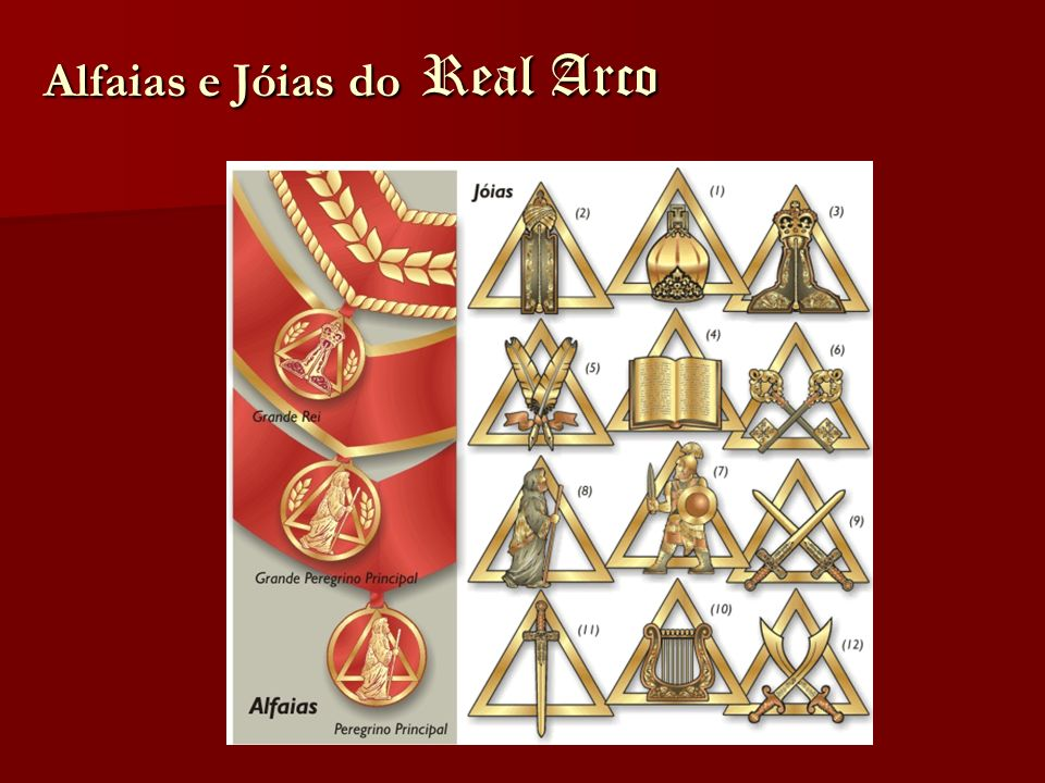 Alfaias e Jóias do Real Arco
