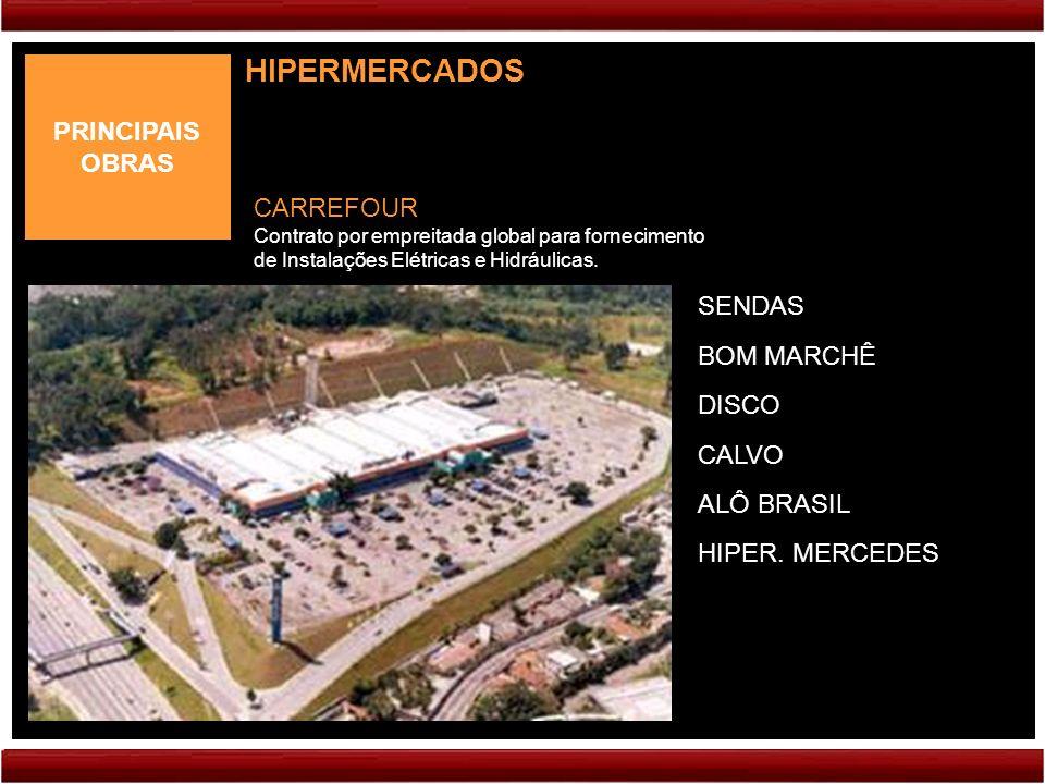 HIPERMERCADOS PRINCIPAIS OBRAS CARREFOUR SENDAS BOM MARCHÊ DISCO CALVO