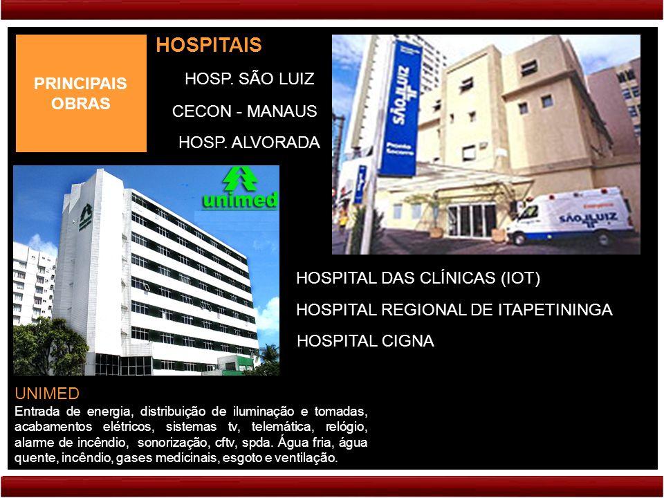 HOSPITAIS PRINCIPAIS OBRAS HOSP. SÃO LUIZ CECON - MANAUS