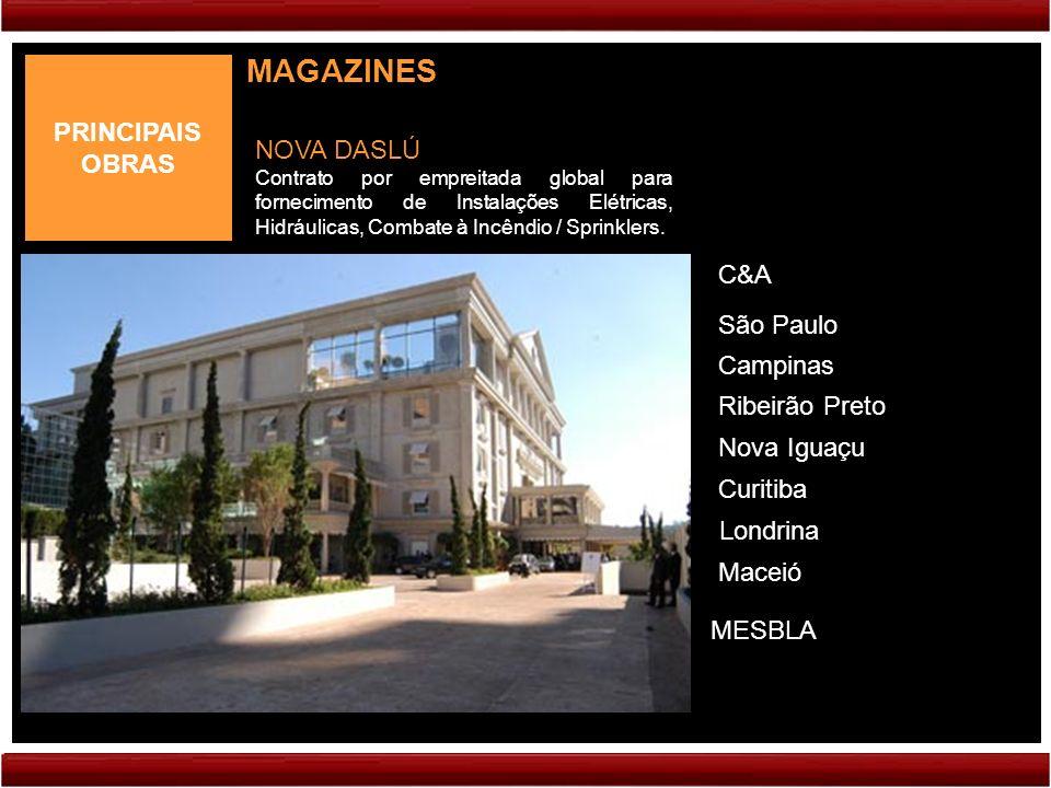 MAGAZINES PRINCIPAIS OBRAS NOVA DASLÚ C&A São Paulo Campinas