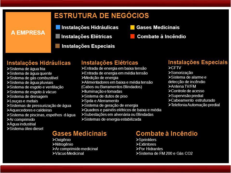 ESTRUTURA DE NEGÓCIOS Gases Medicinais Combate à Incêndio A EMPRESA