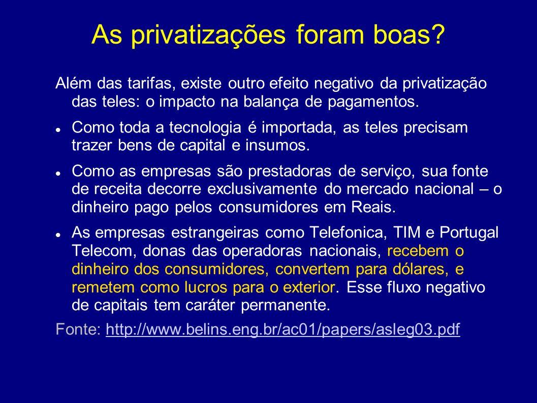 As privatizações foram boas