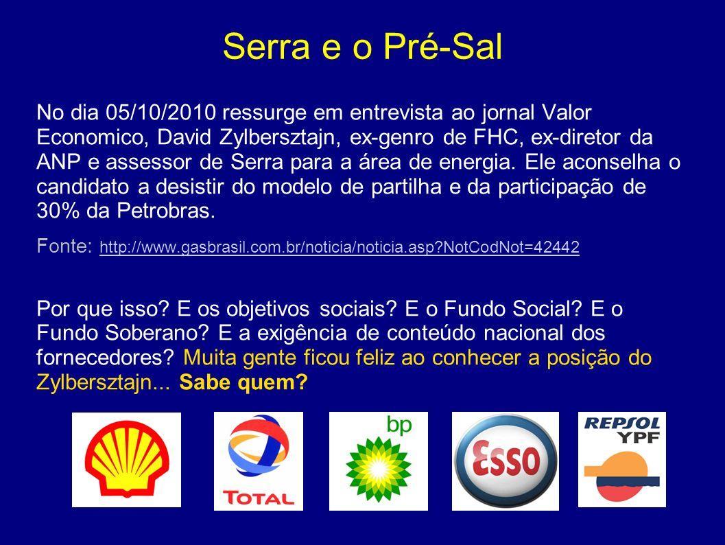 Serra e o Pré-Sal
