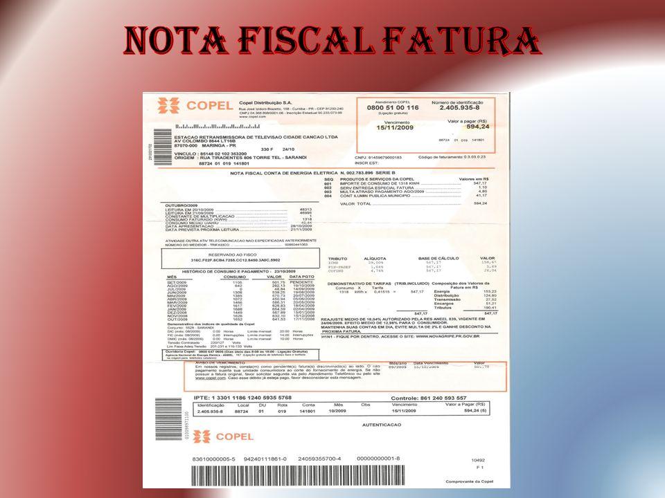 nota fiscal fatura