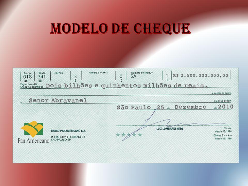 Modelo de cheque