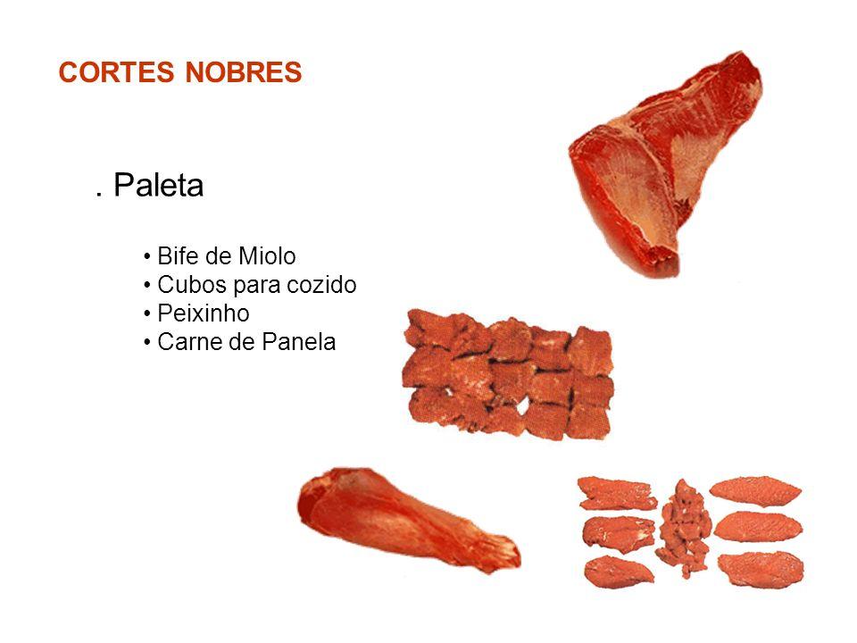. Paleta CORTES NOBRES Bife de Miolo Cubos para cozido Peixinho