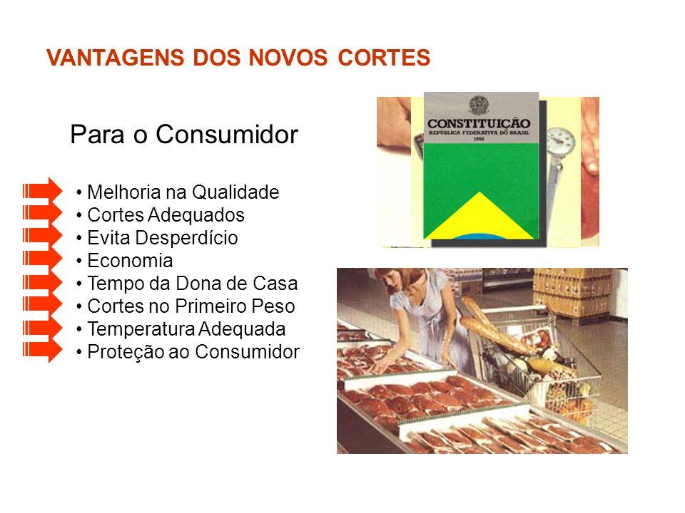 Para o Consumidor VANTAGENS DOS NOVOS CORTES Melhoria na Qualidade
