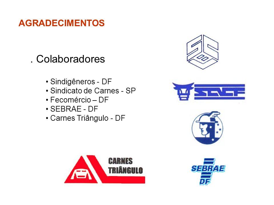 . Colaboradores AGRADECIMENTOS Sindigêneros - DF