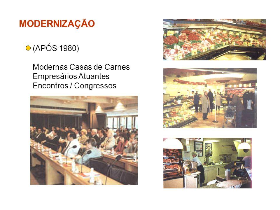 MODERNIZAÇÃO (APÓS 1980) Modernas Casas de Carnes Empresários Atuantes