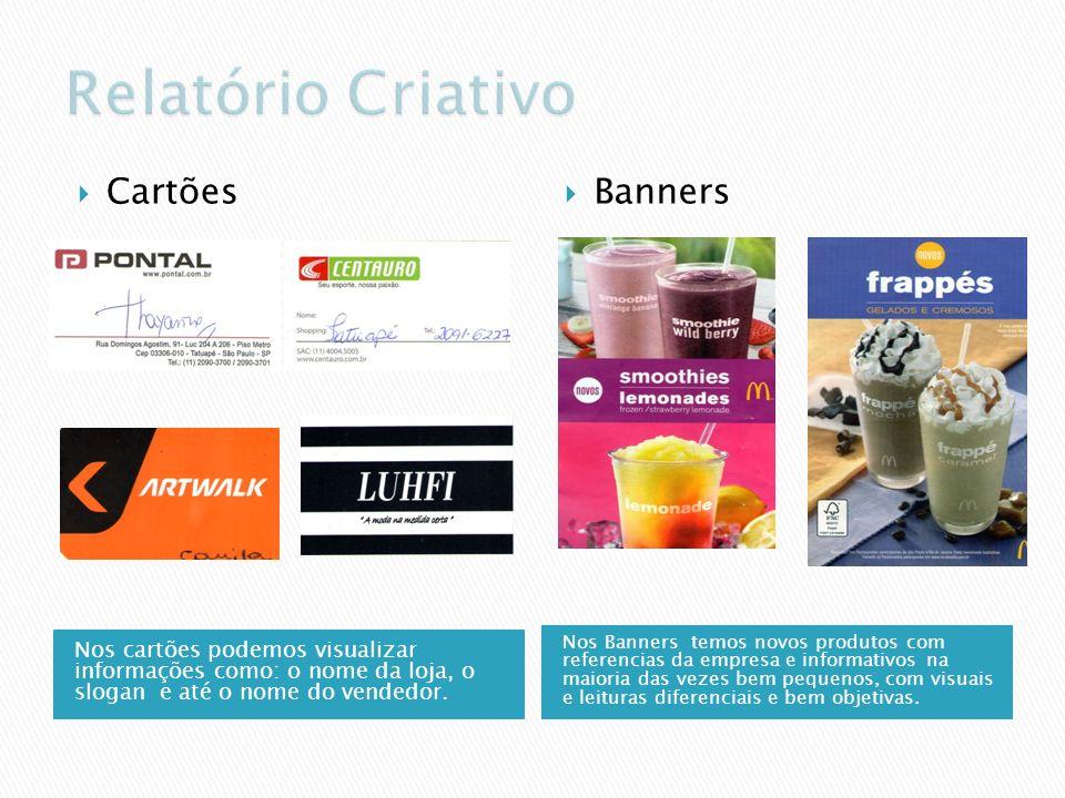 Relatório Criativo Cartões Banners