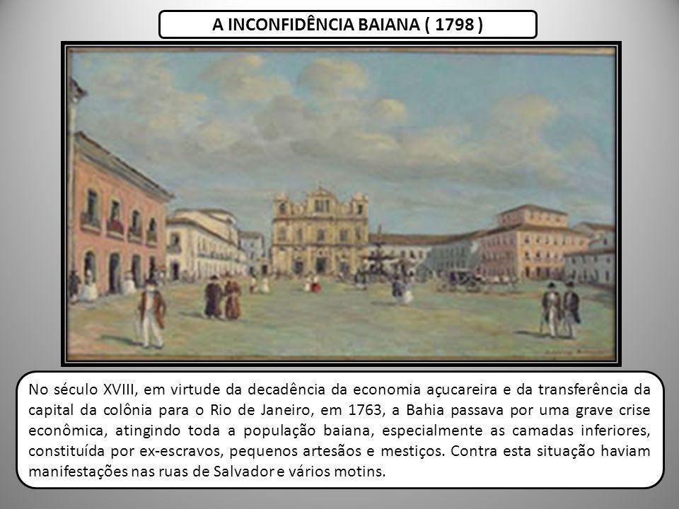 A INCONFIDÊNCIA BAIANA ( 1798 )