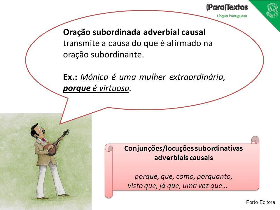 Conjunções/locuções subordinativas adverbiais causais