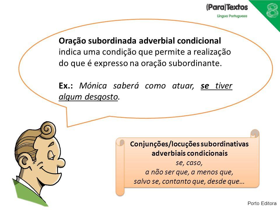 Conjunções/locuções subordinativas adverbiais condicionais