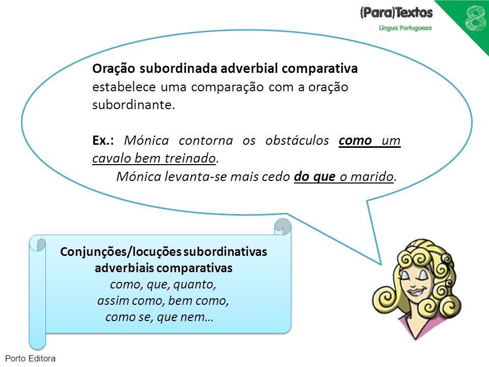 Conjunções/locuções subordinativas adverbiais comparativas