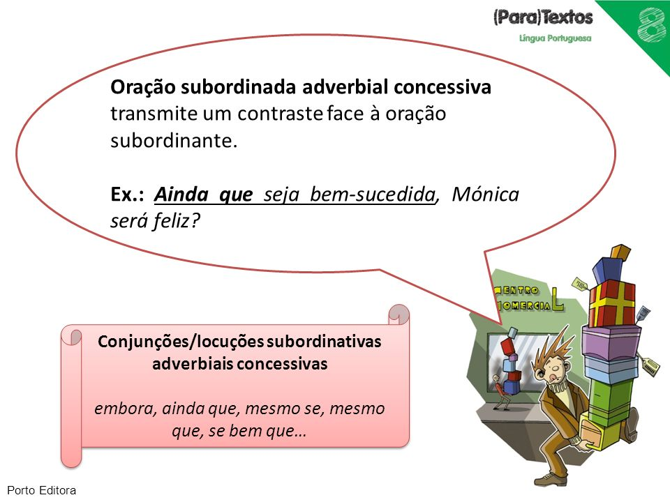 Conjunções/locuções subordinativas adverbiais concessivas