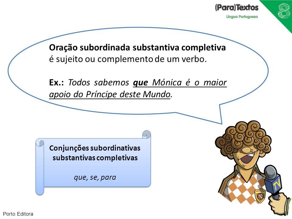 Conjunções subordinativas substantivas completivas