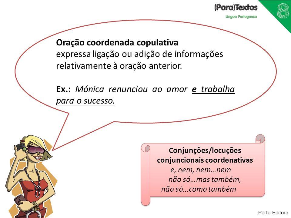 Conjunções/locuções conjuncionais coordenativas