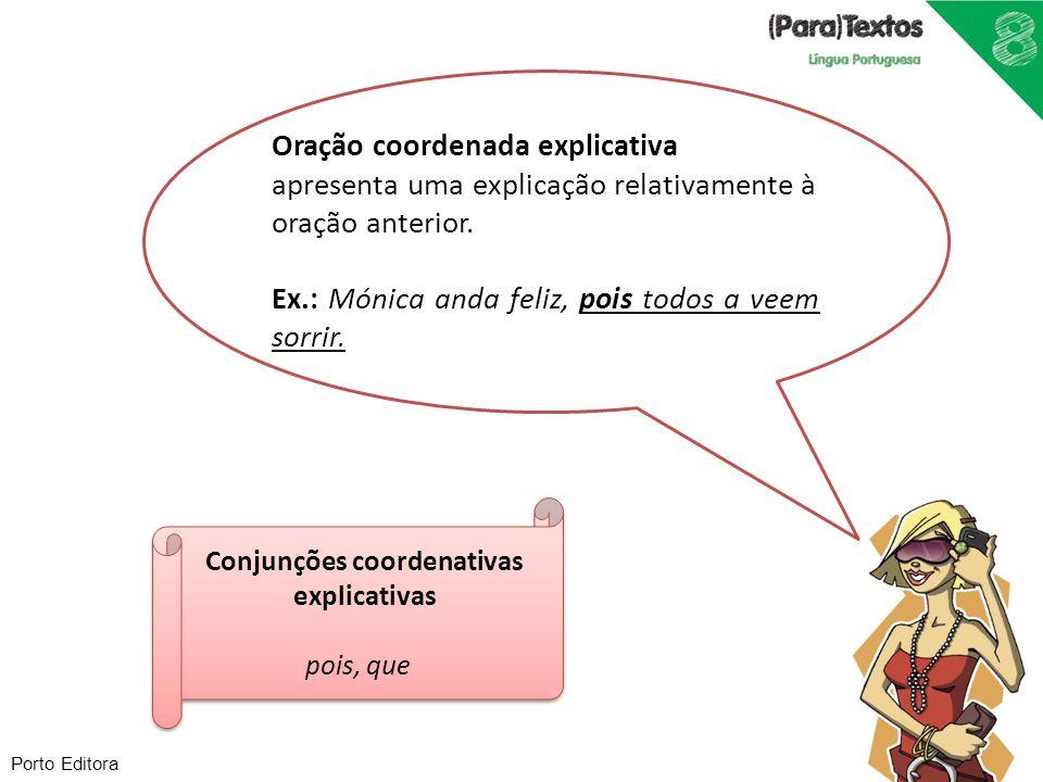 Conjunções coordenativas explicativas
