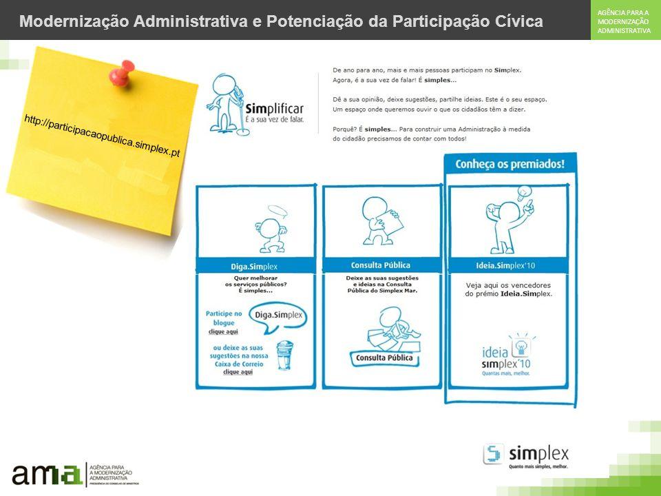 Modernização Administrativa e Potenciação da Participação Cívica