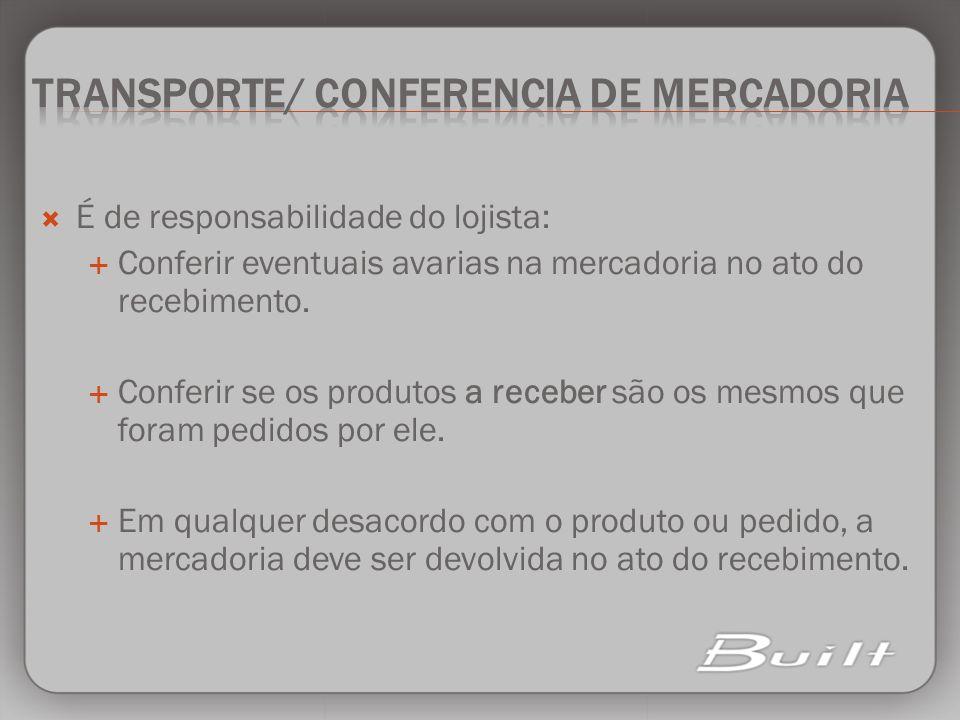 Transporte/ conferencia de mercadoria
