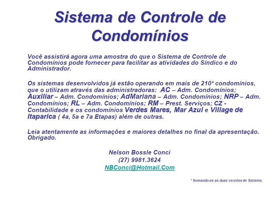 Sistema de Controle de Condomínios