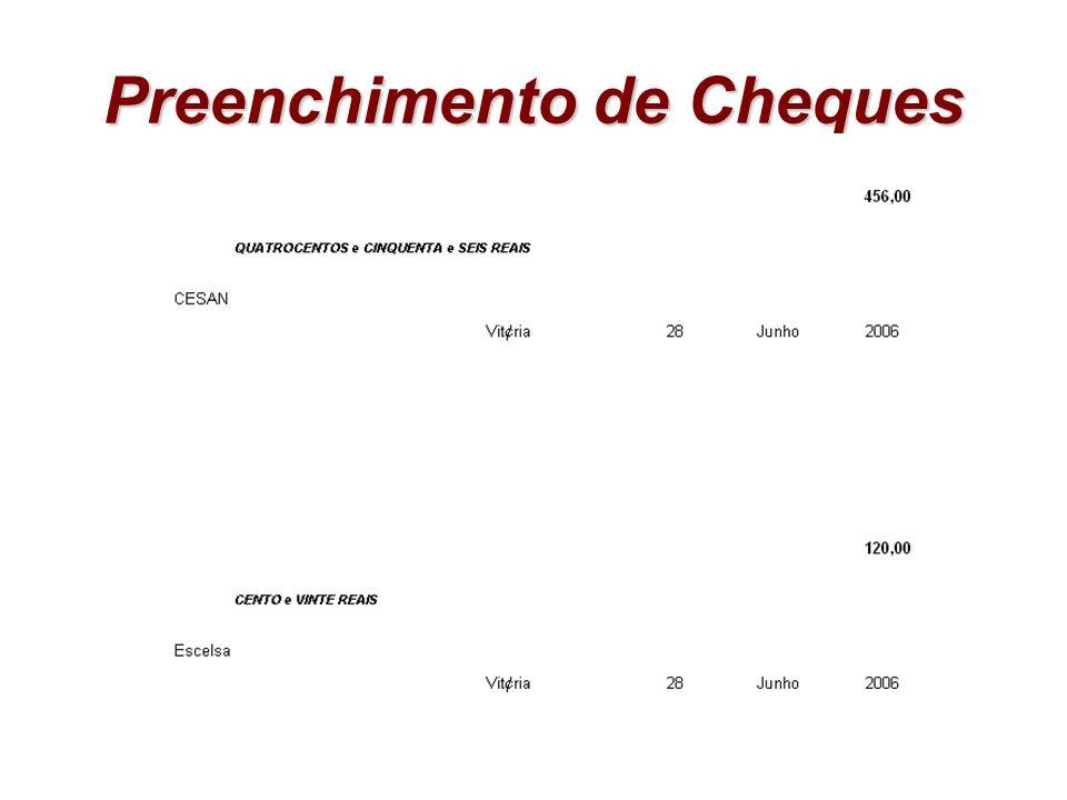 Preenchimento de Cheques
