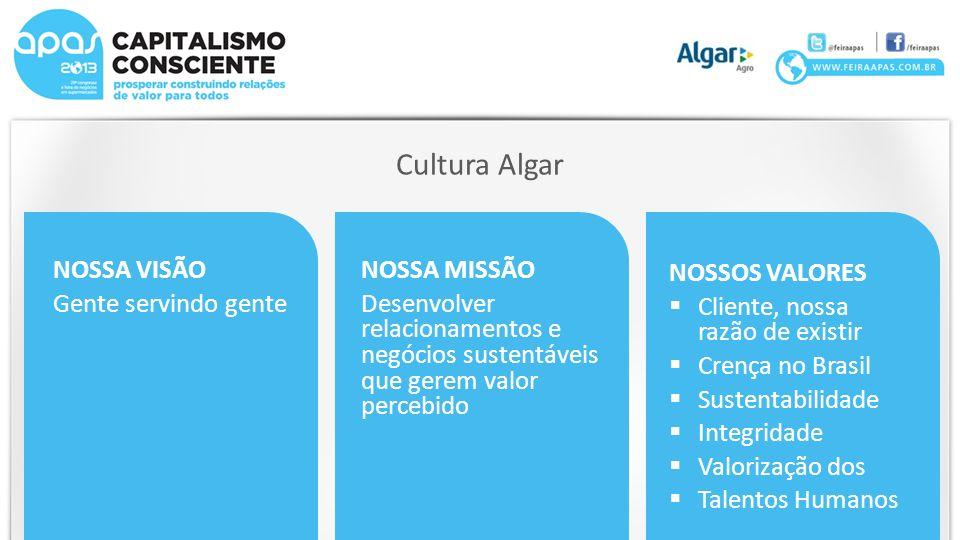 Cultura Algar NOSSA VISÃO Gente servindo gente NOSSA MISSÃO