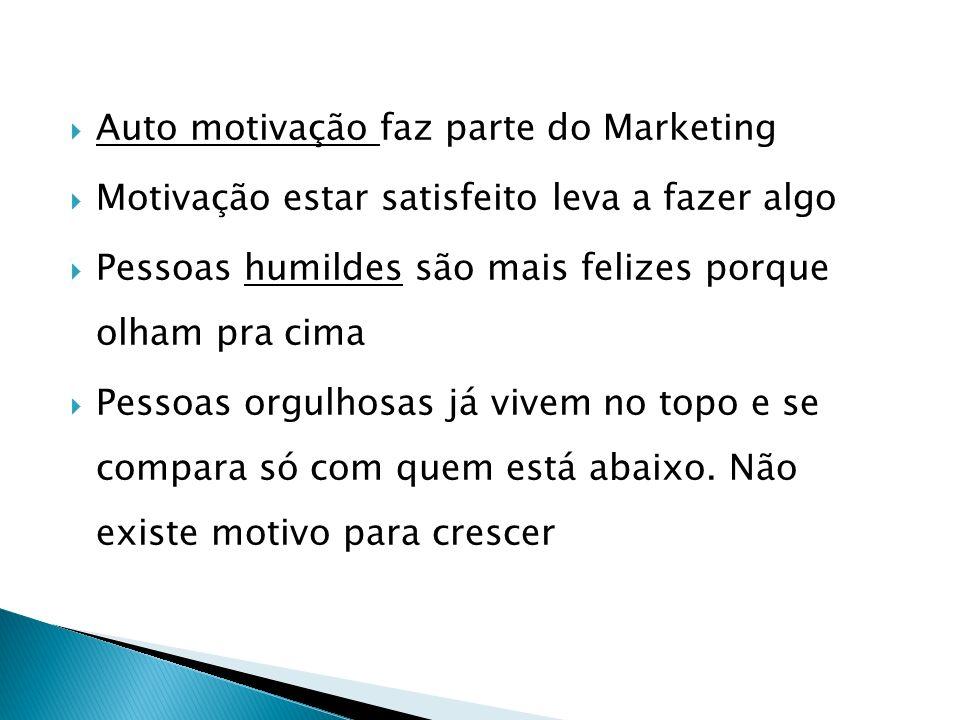 Auto motivação faz parte do Marketing
