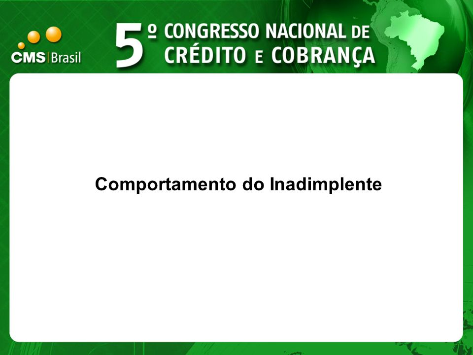 Comportamento do Inadimplente