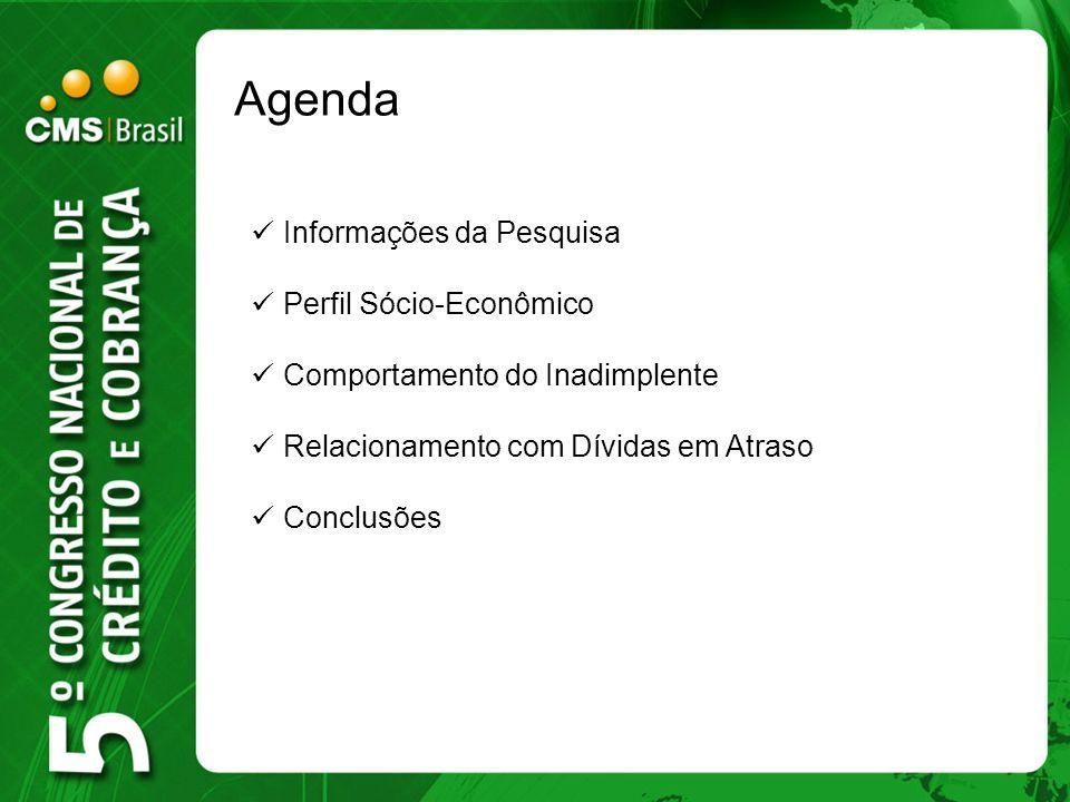 Agenda Informações da Pesquisa Perfil Sócio-Econômico
