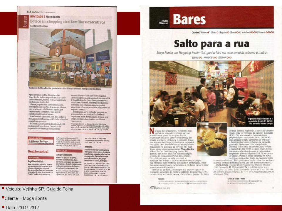 Veículo: Vejinha SP, Guia da Folha