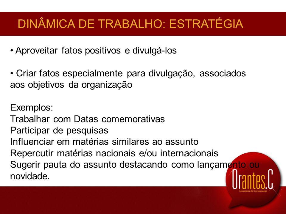 DINÂMICA DE TRABALHO: ESTRATÉGIA