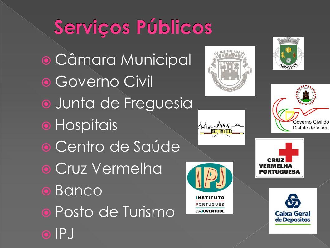 Serviços Públicos Câmara Municipal Governo Civil Junta de Freguesia