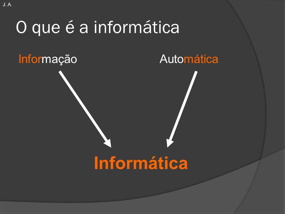 J. A. O que é a informática Informação Automática Informática