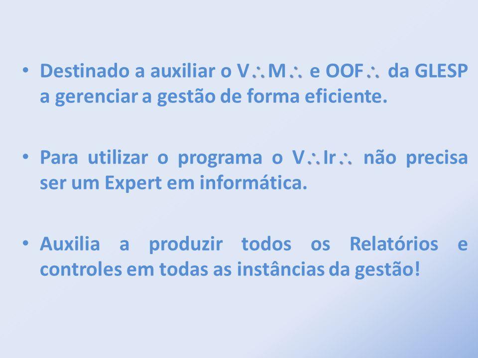 Destinado a auxiliar o V\M\ e OOF\ da GLESP a gerenciar a gestão de forma eficiente.