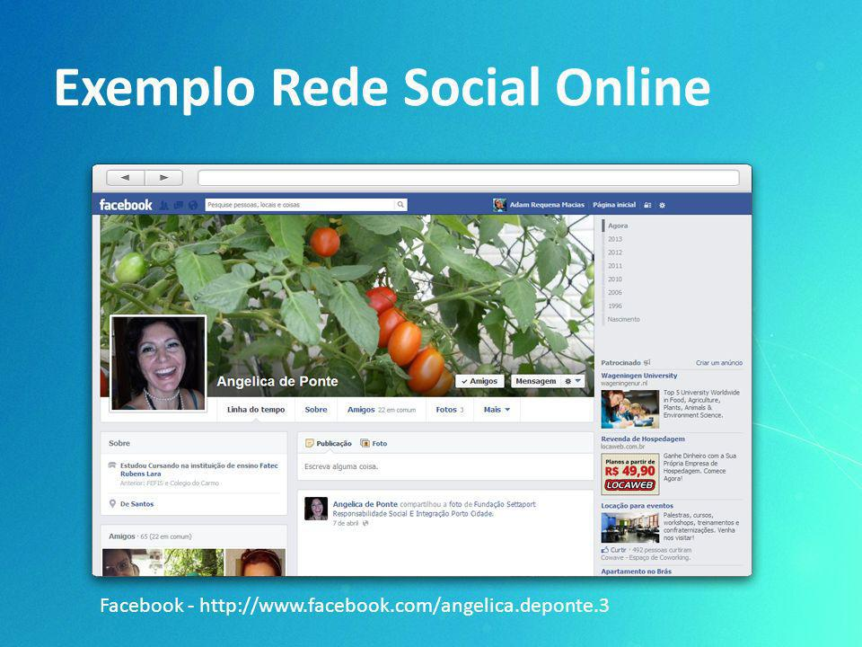 Exemplo Rede Social Online